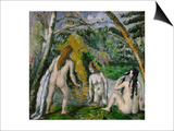Three Bathers, 1879-1882 Prints by Paul Cézanne