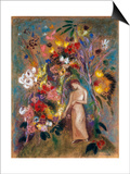Woman in Flowers, 1904 Prints by Odilon Redon