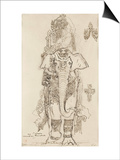 Carton 31. Etude pour la Péri Posters by Gustave Moreau