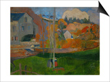 The David Mill, Brittany Landscape, 1894 Posters by Paul Gauguin