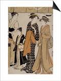 Prenant le frais à Nakasu Prints by Torii Kiyonaga