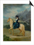 Equestrian Portrait of Maria Teresa De Vallabriga Poster by Francisco de Goya