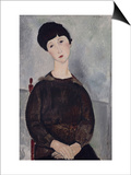 Jeune fille brune, assise Posters by Amedeo Modigliani
