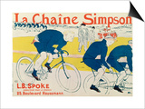 Poster for La Chaine Simpson, Bicycle Chains, 1896 Print by Henri de Toulouse-Lautrec