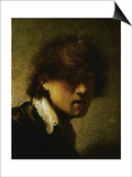 Youthful Self-Portrait Poster by  Rembrandt van Rijn