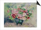 A Bouquet of Flowers Prints by Pierre-Auguste Renoir