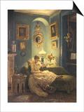 Evening at Home Poster by Edward John Poynter