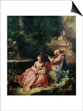 The Music Lesson Prints by Francois Boucher
