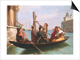 Musical Interlude on the Gondola Prints by Antonio Paoletti