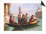 Musical Interlude on the Gondola Prints by Antonio Paoletti