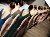 Model Wears Creations by Lebanese Fashion Designer Elie Saab Print