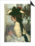 Portrait of an Elegant Young Woman Poster by James Tissot