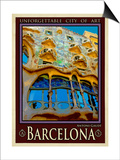 Barcelona Spain 5 Prints by Anna Siena