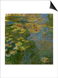 Waterlilies, 1917-1919 Prints by Claude Monet
