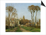Entry into the Village of Voisins (Yvelines), 1872 Posters by Camille Pissarro
