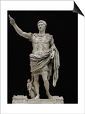 Emperor Augustus in Military Dress, Marble Figure from the Prima Porta Print