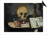 Skull and Candlestick, circa 1866 Prints by Paul Cézanne