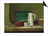 Pipes and Jug Prints by Jean-Baptiste Simeon Chardin