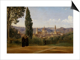 Florence, Seen from the Boboli-Gardens Prints by Jean-Baptiste-Camille Corot