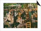 Dance at the Moulin De La Galette, 1876 Prints by Pierre-Auguste Renoir