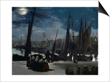 Moonlight Over Boulogne Harbor, 1869 Prints by Édouard Manet