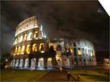 The Ancient Colosseum is Lit up for the Occasion of the Day for the Abolition of the Death Penalty Posters