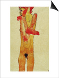 Nude Girl with Folded Arms, 1910 Prints by Egon Schiele