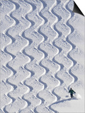 Skier Leaves His Trace in the Deep Snow on a Hill Near St. Maergen in the Black Forest of Germany Prints