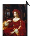 Portrait of Joan of Aragon Poster by  Raphael