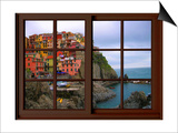 View from the Window Manarola at Cinque Terre Poster by Anna Siena