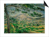 Mont Sainte-Victoire with Large Pine-Tree, circa 1887 Art by Paul Cézanne