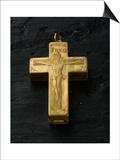 Cadran solaire équinoxial en forme de croix reliquaire Poster by Adrien Zeelst