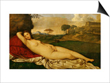 Sleeping Venus Prints by  Giorgione