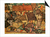 Yellow City, 1914 Prints by Egon Schiele