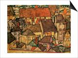 Yellow City, 1914 Prints by Egon Schiele