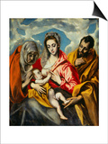 Holy Family Print by  El Greco