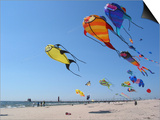 Colorful Kites Dot the Sky Prints