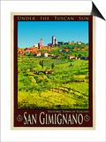 San Gimignano Tuscany 8 Art by Anna Siena