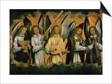 Angels Making Music; Left Panel of a Triptych Art by Hans Memling