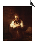Girl with a Broom, 1640 Posters by  Rembrandt van Rijn