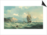 Shipping in a High Sea Prints by John Henry Claude Wilson