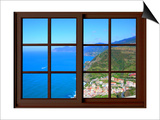 View from the Window at Cinque Terre Print by Anna Siena