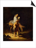 Flight into Egypt Prints by  Rembrandt van Rijn