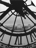 Clock Tower and Scenery of a Town, Paris, France Prints by Tomaru Eiichi