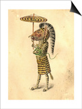 Zebra 1873 'Missing Links' Parade Costume Design Prints by Charles Briton