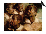 Studies of the Head of a Black Man Posters by Peter Paul Rubens