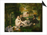 Dejeuner Sur L'Herbe (Luncheon on the Grass), 1863 Print by Édouard Manet