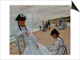 On the Beach at Trouville, 1870-71 Prints by Claude Monet