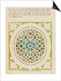 Modèle de parterre de jardin oval Posters