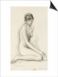 Etude d'après le modèle pour les filles de Thespius Posters by Gustave Moreau